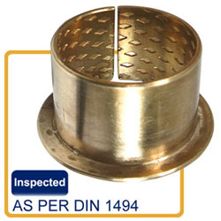 FB090-F flanged bushing-wrapped bronze